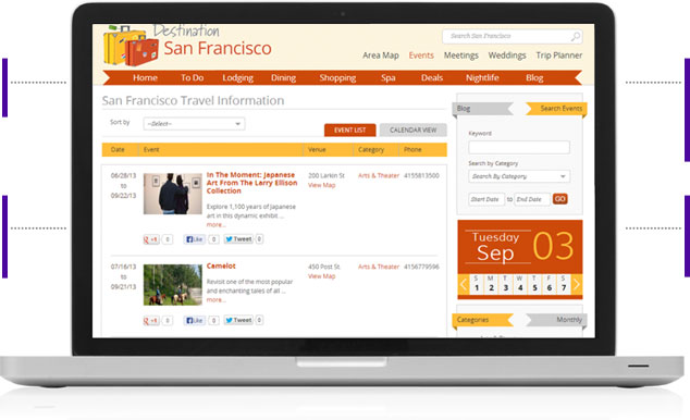 MediaConnect360 Integrate with Website Calendar for SEO